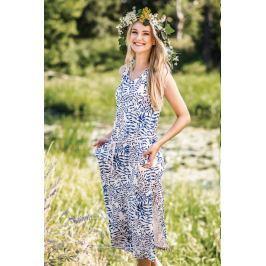 Letní šaty Key LHD 052 - barva:KEYMODR/Tmavě modrá, velikost:M
