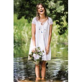 Letní šaty Key LND 578 - barva:KEYBILA/bílá, velikost:L