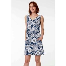Plážové šaty Lady Belty 19V-1024Y-66 - barva:BEL66UNI/modrá s potiskem, velikost:M