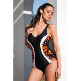 Jednodílné plavky 56.192 Deidad - barva:DEI619/Oranžový vzor, velikost:85C