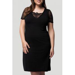 Noční košile krátký rukáv Pleas 166291 - barva:PLE000/černá, velikost:M