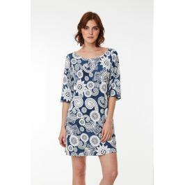 Plážové šaty Lady Belty 19V-1022Y-66 - barva:BEL66UNI/modrá s potiskem, velikost:S