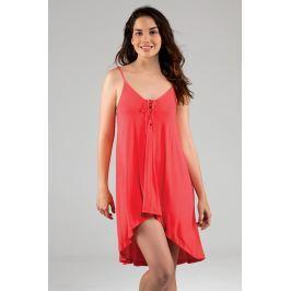 Plážové šaty D00264Q - barva:DOROG61/korálová, velikost:L