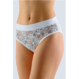 Klasické kalhotky se širokým bokem Gina 10174 - barva:GINMxBMxC/černo-bílá, velikost:38/40