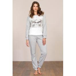 Dámské pyžamo Linclalor 92041 - barva:LCL33/bílá/šedá, velikost:42
