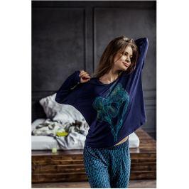 Dámské pyžamo Key LHS 972 - barva:KEYMODR/Tmavě modrá, velikost:L