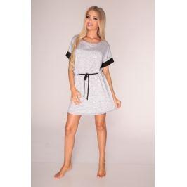 Šaty De Lafense 307 - barva:DELMELA/šedá  , velikost:L