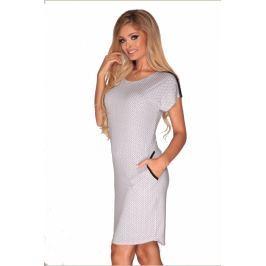 Šaty s krátkým rukávem De Lafense 597 - barva:DELBLWH/černá-bílá  , velikost:L
