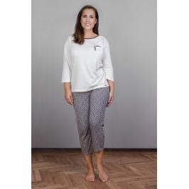 Dámské pyžamo Cornette 602 - barva:COR137/ecru/šedá, velikost:L