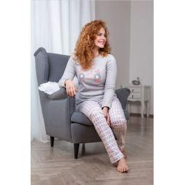 Dámské pyžamo Lady Belty 17I-0102-12 - barva:BELUNI/šedá/potisk, velikost:L