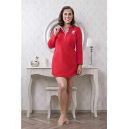 Dámská noční košile Lady Belty 17l-0401-14 - barva:BELROJ/červená, velikost:XL