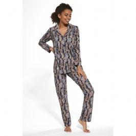 Dámské pyžamo Cornette 482 - barva:COR264/modrá s potiskem, velikost:L