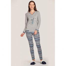 Pyžamo Lady Belty 20I-0107-08 - barva:BELUNICO/potisk, velikost:L