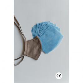 NANO MED.CLEAN rouška maska + 10x NANO MED.CLEAN  filtr - barva:XBV11/hnědá, velikost:L/XL