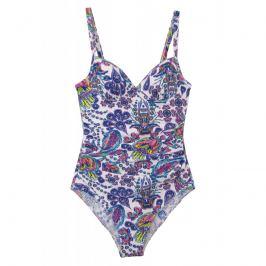 Jednodílné plavky Susa 4277 - barva:SUSP78/bílá-potisk, velikost:38B