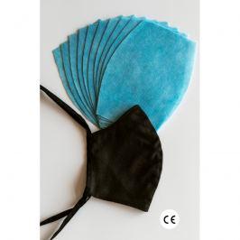NANO MED.CLEAN rouška maska + 10x NANO MED.CLEAN  filtr - barva:XBV04/černá, velikost:L/XL