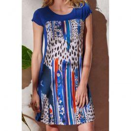 Šaty Lady Belty 20V-1022V-79 - barva:BEL79UNI/modrý potisk, velikost:L