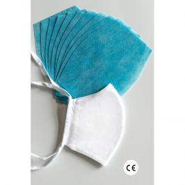 NANO MED.CLEAN rouška maska + 10x NANO MED.CLEAN  filtr - barva:XBV03/bílá, velikost:L/XL