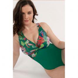 Jednodílné plavky Dorina D17018U - barva:DOROK79/zelena s květinami, velikost:L