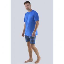 Pánské pyžamo Gina 79072P - barva:GINMxMDCM/modrá-lékořice, velikost:M