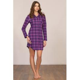 Dámská noční košile dlouhý rukáv Linclalor 92031 - barva:LCL96/modrá/fuchsiová, velikost:42