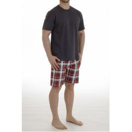 Pánské pyžamo Pleas 156257 - barva:PLE500/červená, velikost:2XL