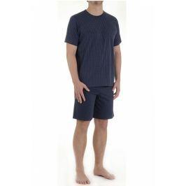 Pánské pyžamo Pleas 123369 - barva:PLE203/antracitová, velikost:2XL