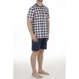 Pánské pyžamo Pleas 156145 - barva:PLE100/bílá, velikost:2XL