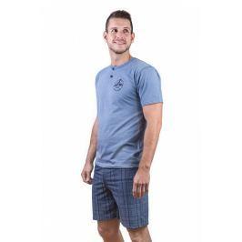 Pánské pyžamo Cornette 327 - barva:CORJEAN/modrá, velikost:L