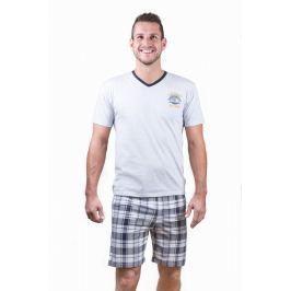 Pánské pyžamo Cornette 326 - barva:CORGRAF/šedá, velikost:L