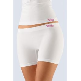 Dámské nohavičkové kalhotky vyšší Gina 03011P - barva:GINMxBMFE/bílá-purpurová  , velikost:L/XL