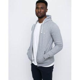 Knowledge Cotton Basic Hood Sweat Grey Melange - White Owl M