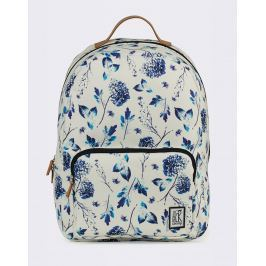 The Pack Society Classic Off White Blue Flower Allover