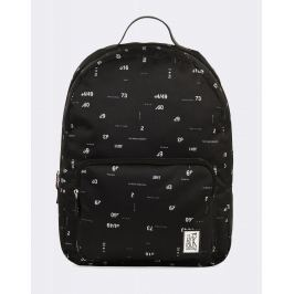 The Pack Society Classic Backpack Black Numbers Allover