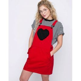 Lazy Oaf Frilly Heart Pocket Red M