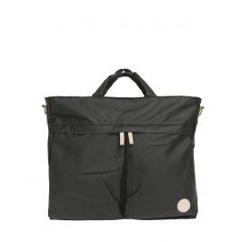 Enter Helmet Tote Bag Black Waterproof / Natural Leather