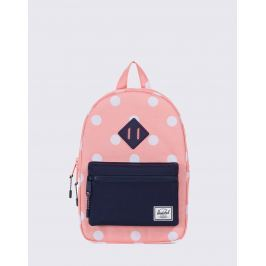 Herschel Supply Heritage Kids Peach Polka Dot/Peacoat