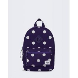 Herschel Supply Heritage Kids Parachute Purple Polka Dot/Parachute Purple Rubber