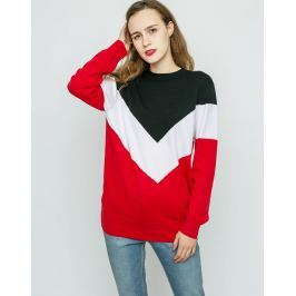 Neon Rose Chevron Knit Red M