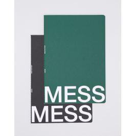 NOMESS Mess Study Book L Black/Dark Green