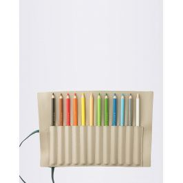 PrintWorks Pencil Roll Ink 12 Color Pencils Beige/Green