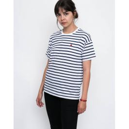 Carhartt WIP Robie Robie Stripe, White / Blue / Goji L