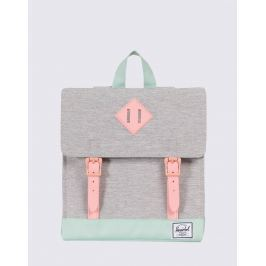 Herschel Supply Survey Kids Light Grey Crosshatch/Yucca/Peach Rubber