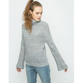 Neon Rose Turnback Cocoon Knit Grey S