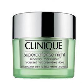 Clinique Superdefense Night Recovery Moisturizer Combination To Oily Skin ( smíšená až mastná pleť ) - Noční hydratační krém 50 ml