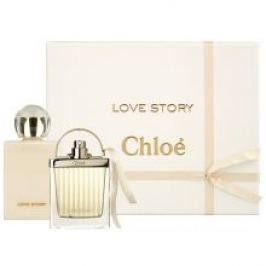 Chloe Love Story Dárková sada dámská parfémovaná voda 50 ml a tělové mléko Love Story 100 ml