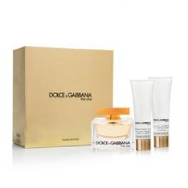 Dolce Gabbana The One Dárková sada dámská parfémovaná voda 75 ml, tělové mléko The One 50 ml a sprchový gel The One 50 ml
