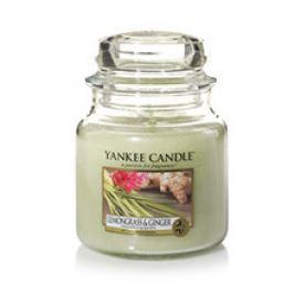 Yankee Candle Lemongrass & Ginger Candle ( citrónová tráva a zázvor ) - Vonná svíčka  411.0 g