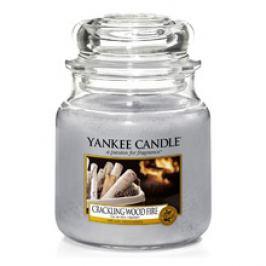 Yankee Candle Crackling Wood Fire Candle ( praskající dřevo v ohni ) - Vonná svíčka 104.0 g