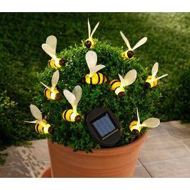 Solární světelný řetěz Včelky